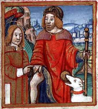 St. Fiacre curing ulcer